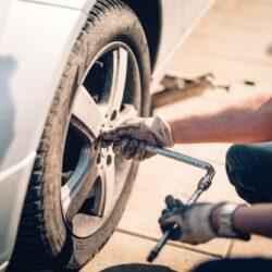 tire-maintenance-damaged-car-tyre
